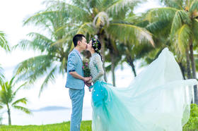 伊莎莉娅全球旅拍三亚婚纱照
