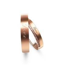 婚礼纪直营 结婚对戒 18K红金钻戒 免费定制终身服务