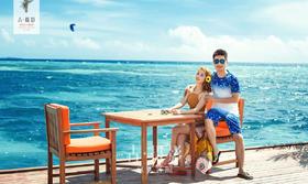 古摄影『马尔代夫站』海景婚纱客片欣赏:送给【李先生夫妇】