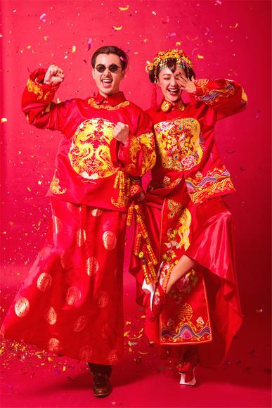 重庆金色经典内景作品鉴赏|传统中式复古婚纱照