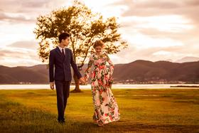 【时尚婚纱照】巴黎婚纱二月客样 穿着婚纱去旅行