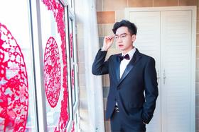 乔瑞德【客照】——黑色婚礼男士礼服