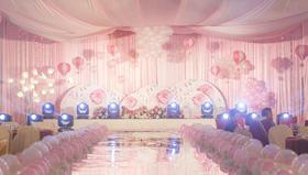 DOCKLANDS-蓝粉色系列婚礼~如形随形