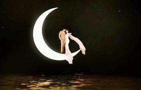 厦门如果爱婚纱摄影客照欣赏 夜景婚纱照系列