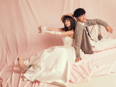 韩国印象 全新韩式风格婚纱照——粉红告白
