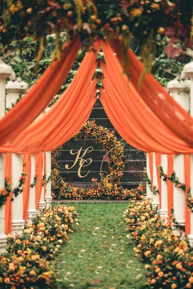 【秋意的渐浓的时节收获记忆】 ·创意浪漫婚礼布置