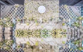 梦想中的白绿色婚礼-爱准点