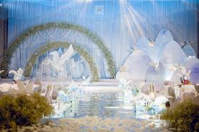 天成婚礼作品--蓝色清新风格主题婚礼