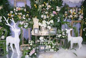 【三月鸟婚礼策划】清新的室内花园·森系清新婚礼布置