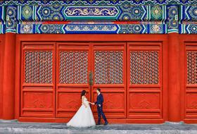 《太庙》红门 中国风大气中式婚纱照 红墙婚纱照