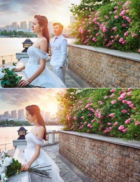 【夏威夷小镇】客照分享湖边逆光 小清新夕阳