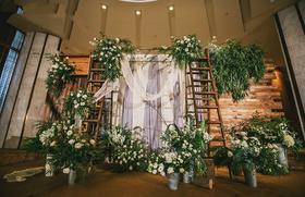 「艾溪婚礼」清新自然白绿色系婚礼