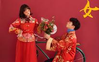 【QUUCU喜颜纪定制摄影】样片小魔女中式内景婚纱照