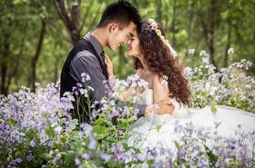 洛克摄影高定套系客片完胜样片·花丛森林浪漫婚纱照