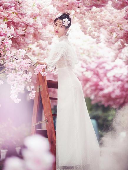 西安潘朵拉之【樱花大道】唯美樱花婚纱照