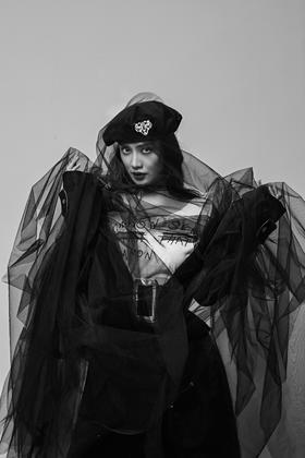 瑞丽摄影2018全新风格-个性黑纱