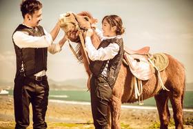 【六月记忆高端摄影】海边骑马