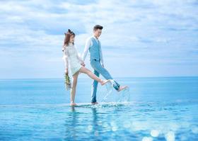 我没说过永远,只希望每个明天你都在·海边浪漫婚纱照