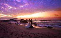 六月记忆高端摄影 - 韩式简约海景婚纱照