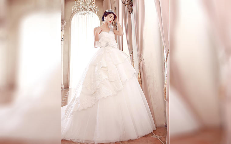 SaintDenis2019新品 白色婚纱