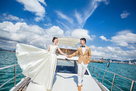 大画印象丨一定要嫁给爱情——时尚海景婚纱照