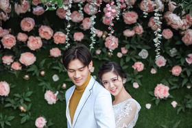 大连莎蒲映画丨韩式花海游艇婚纱照