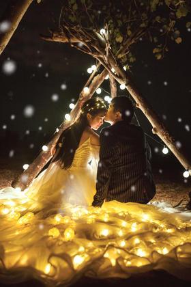 大画印象丨这是属于你我的小幸福性感夜景婚纱照