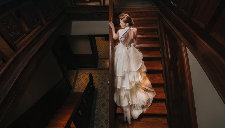 复古风格酒店内景模特奢华实拍案例