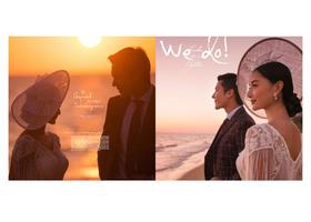 幸福时光【相守】日系沙滩海景婚纱照