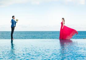 大画印象丨千万人之中,我遇见了你——唯美海景婚纱照
