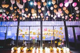 【逆光婚礼】——「粉色系公主风婚礼」蜜糖派气球创意
