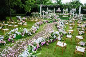 红绣球户外草坪花园主题婚礼