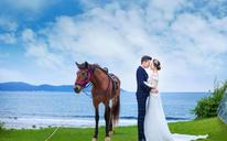 大画印象:让每张客片成为你最美的样子。唯美马场婚纱照