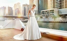 MODERN :出门纱A字型90后婚纱礼服