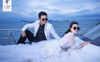 古摄影『三亚站』小清新游艇婚纱照