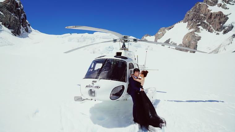 前卫雪景婚纱照(纽约纽约新西兰旅拍)