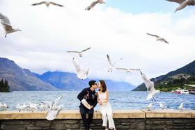韩式海景婚纱照(纽约纽约新西兰旅拍)