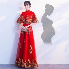 敬酒服新娘2018圆领创意婚纱礼服