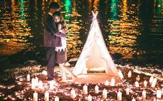 花田会婚纱摄影工作室-天鹅湖边烛光-客片