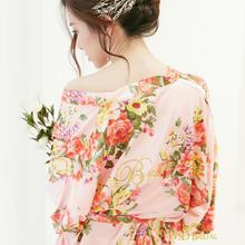 锦簇婚礼晨袍印花wsd新娘伴娘定制新品伴手礼日系刺绣化妆睡袍