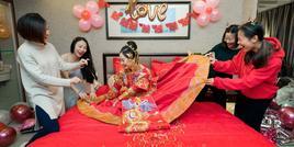 大婚已过幸福传递5k婚品免费送!红色秀禾服最抢手!