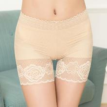 3条装夏季防走光安全裤蕾丝大码保险内裤女三分裤加大纯棉薄款