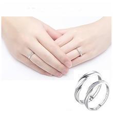 结婚对戒仿真一对假钻戒开口日韩婚礼一克拉婚戒男女情侣戒指戒子