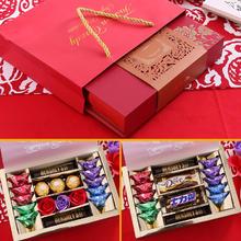 结婚喜糖盒成品含糖果回礼伴手礼明治费列罗德芙好时巧克力礼盒装