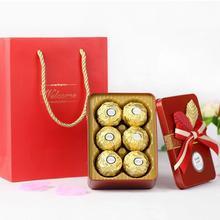欧式创意马口铁喜糖盒成品含糖送手提袋