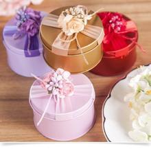 欧式创意马口铁喜糖盒成品含糖