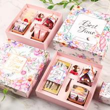 颂家喜礼 喜糖成品结婚回礼伴娘森系生日礼盒喜饼含糖婚礼伴手礼