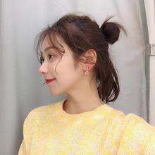 【974】迷你风锆石小饰品短款精致秀气轻奢微镶蝴蝶结耳环