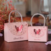 喜糖盒 创意结婚用品 中式镂空蝴蝶婚庆礼盒精美糖盒回礼纸盒子