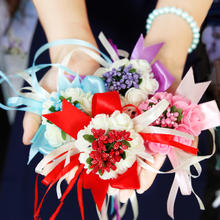 批發包邮走量中式婚礼婚庆新娘手腕花伴娘姐妹花韩式头花新人道具